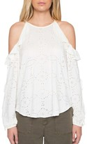 Willow & Clay Women's Eyelet Cold Shoulder Top