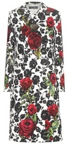 Dolce & Gabbana Floral Printed Jacquard Coat