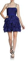 Adrianna Papell Ruffle Skirt Cocktail Dress