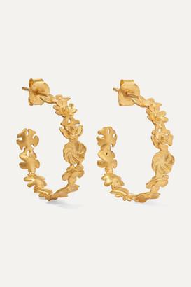 Pippa Small Small Flower 18-karat Gold Hoop Earrings - one size