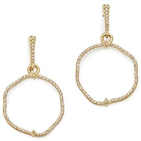 Armenta 18K Yellow Gold Sueno Freeform Drop Earrings with Champagne Diamonds