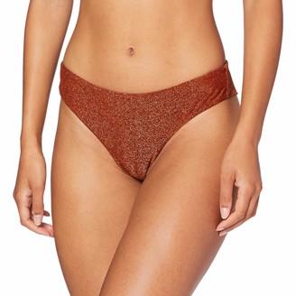 women'secret Women's Brazilian Bikini Bottom with Lurex Fabric Not Applicable