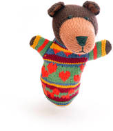 ChunkiChilli Brown Bear Hand Puppet In Organic Cotton