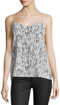 Dex Reversible High-Low Halter Camisole, Black/White Paint Stroke Combo