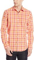 Bugatchi Men's Corallo Long Sleeve Shaped Button Down Shirt