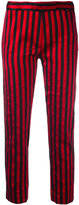 Ann Demeulemeester striped trousers - women - Silk/Cotton/Polyester/Rayon - 38