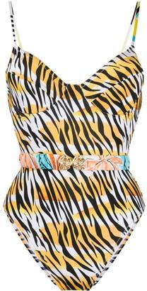 Reina Olga Loren tiger print swimsuit