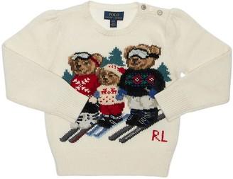 Ralph Lauren Bear Cotton Blend Intarsia Knit Sweater