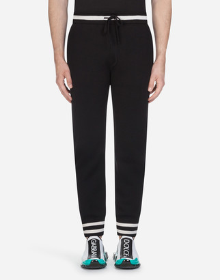 Dolce & Gabbana Knit Jogging Pants With Embroidery