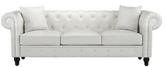 House of Hampton Anso Chesterfield Sofa Upholstery Color: White