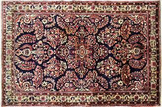 One Kings Lane Vintage 3' x 5' Antique Persian Sarouk Rug - Eli Peer Oriental Rugs - multi/blue