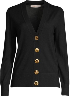 Tory Burch Merino Wool Button-Up Cardigan