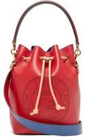 Fendi Mon Tresor Ff Leather Bucket Cross-body Bag - Womens - Red Multi