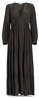 AllSaints Lea Deep V Tiered Dress