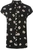 Dorothy Perkins Black Floral Longline Shirt