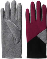 Joe Fresh Women's Colour Block Gloves, Burgundy (Size O/S)