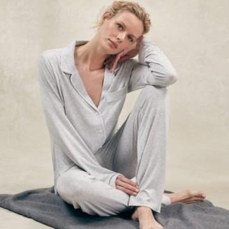 The White Company Jersey Classic Pyjama Set, Cloud Marl, Extra Large