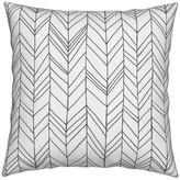 Roostery Chevron Modern Feather Geometric White Gray Throw Pillow Linen Cotton