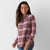 Petite SONOMA Goods for LifeTM Flannel Shirt