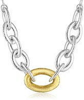 """Gurhan Galahad"""" Sterling Silver Front Link Chain Necklace"""