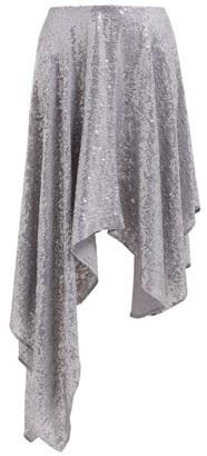 Ashish Sequinned Asymmetric Skirt - Womens - Silver