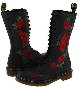 Dr. Martens Vonda 14-Eye Boot (Black) Women's Boots