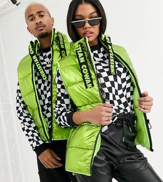 Asos Design DESIGN x Christian Cowan Unisex puffer gilet-Green