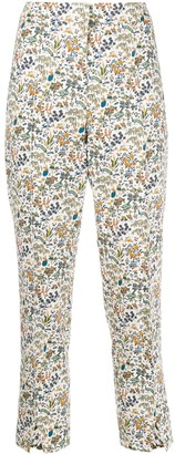 Liberty London Maisie Liddell-print cropped trousers