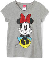 Jerry Leigh Minnie Mouse Gray Heather Tee - Girls