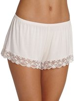 Eberjey Kiss the Bride Lace-Trim Lounge Shorts, Light Pink