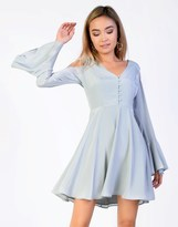 Glamorous Cold Shoulder Skater Dress
