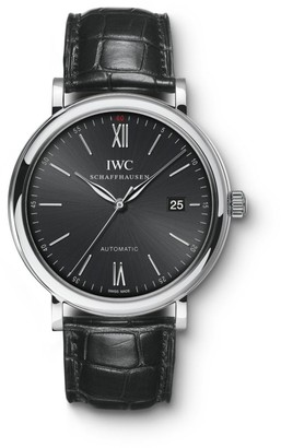 IWC Portofino Stainless Steel & Alligator Strap Watch