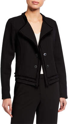 Calvin Klein Double-Breasted Textured Knit Jacket