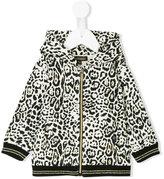 Roberto Cavalli leopard print hoodie