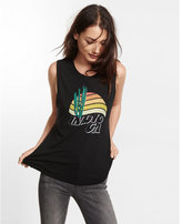 Express indio california graphic muscle tank