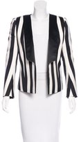 Balmain Striped Open Front Blazer