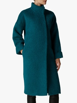Jaeger Wool Mohair Blend Coat, Teal