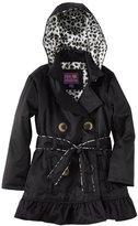 Pink Platinum Big Girls Leopard Lining Trench Raincoat Jacket