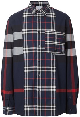 Burberry Patchwork Check Shirt