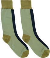 Marni Green Colorblock Socks