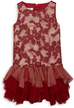 Biscotti Little Girl's Drop-Waist Lace Dress