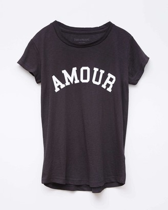 Zadig & Voltaire Skinny Amour Print T-Shirt
