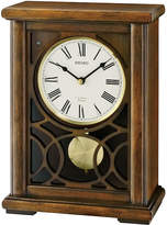 Seiko Mantel Clock With Pendulum And 12 Hi Fi Melodies Brown Qxw236blh