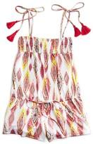 Pilyq Girls' Diamond Print Romper - Sizes XS-L