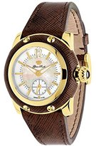 Glam Rock Women's GR40019 Palm Beach Collection Brown Leather Watch