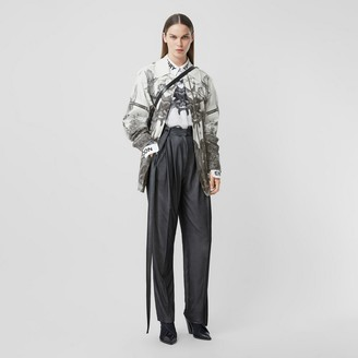 Burberry Monkey Print Silk and Cotton Gabardine Field Jacket