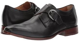 Johnston & Murphy McClain Dress Monk Strap (Black Full Grain) Men's Slip-on Dress Shoes