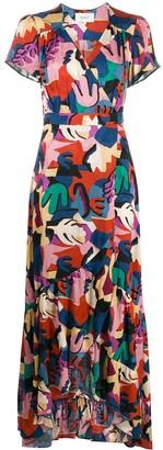 BA&SH Missy graphic-print maxi dress