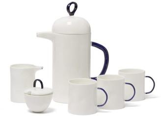 Feldspar - Fine China Cafetiere, Mugs, Jug And Sugar Bowl Set - White