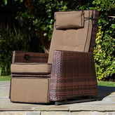 Asstd National Brand Grayton Outdoor Wicker Rocking Recliner
